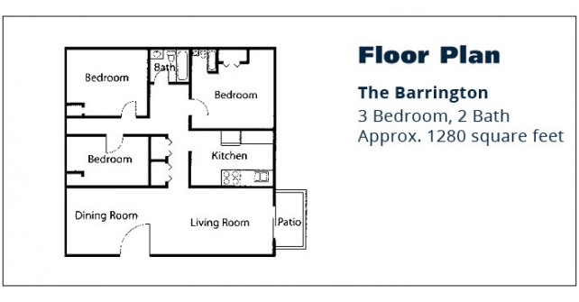 3 BR Apartment – The Barrington