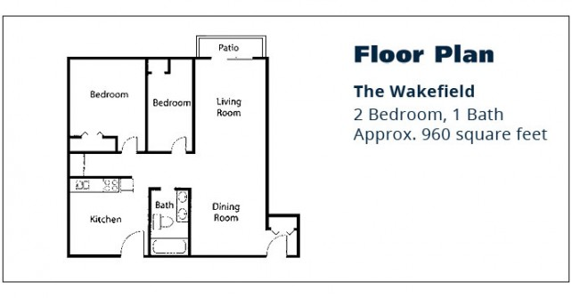 2 BR Apartment – The Wakefield